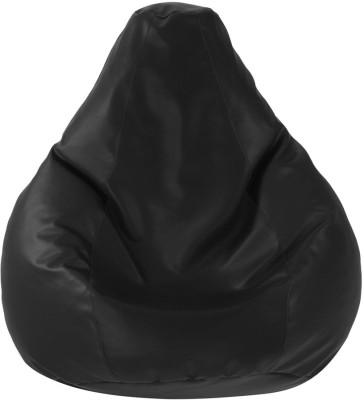 Ostium XXL Bean Bag Cover  (Without Beans)(Black)
