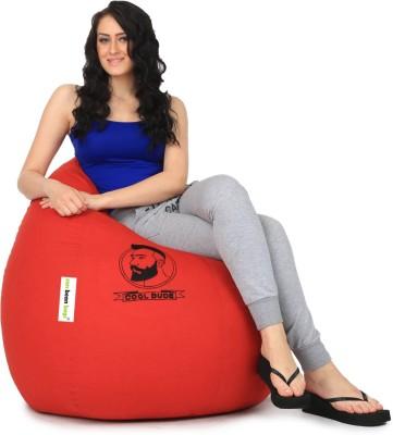 Can Bean Bag XL Bean Bag Cover(Red) at flipkart