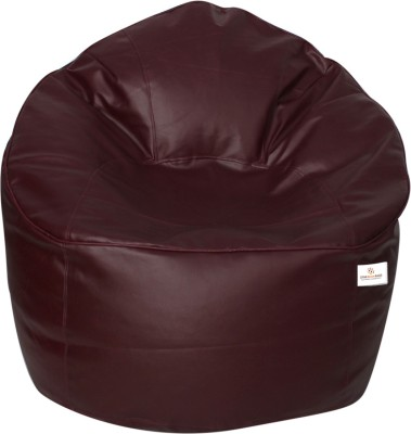 Star XXXL Bean Bag Sofa  With Bean Filling(Maroon)