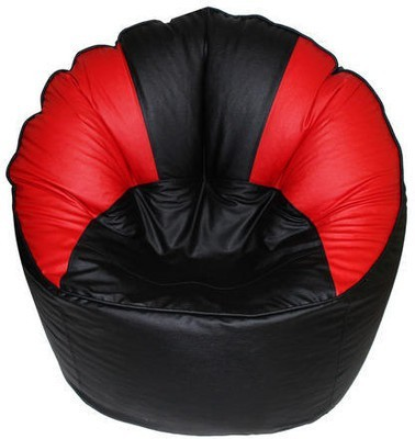 Star XXXL Muddha Bean Bag Sofa  With Bean Filling(Black)