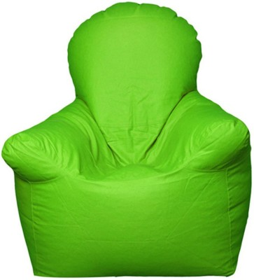 Star XXXL Emperor Arm Chair Bean Bag Chair  With Bean Filling(Green)