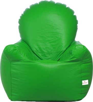 Star XXL Emperor Arm Chair Bean Bag Chair  With Bean Filling(Green)