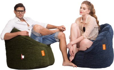 ORKA XXL Bean Bag Sofa  With Bean Filling(Green, Blue) at flipkart