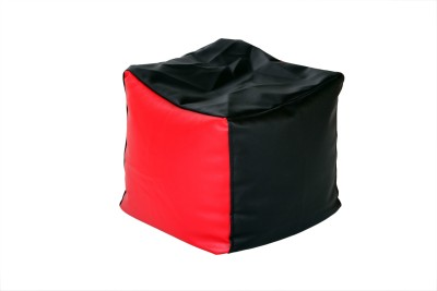 Comfy Bean Bags XXL Bean Bag Cover  (Without Beans)(Black, Red)