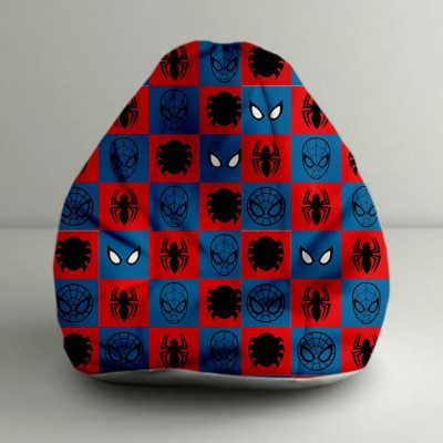 ORKA XXXL Ultimate Spiderman Logos Digital Printed Bean Bag  With Bean Filling(Multicolor) at flipkart