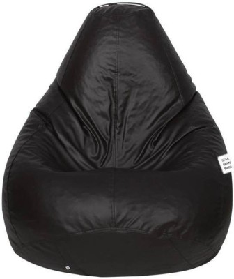 Star XL Bean Bag  With Bean Filling(Brown)