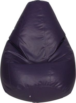 Star XXXL Bean Bag  With Bean Filling(Purple)
