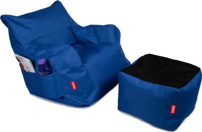 ORKA XXL Bean Chair Cover  (Without Beans)(Blue) at flipkart