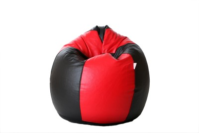 Comfy Bean Bags XXL Bean Bag Cover  (Without Beans)(Red, Black)