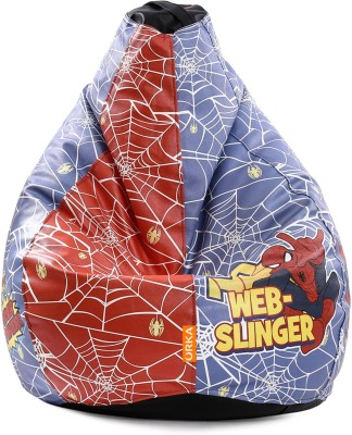 ORKA XXXL Spiderman Comics Digital Printed Bean Bag  With Bean Filling(Red, Blue) at flipkart