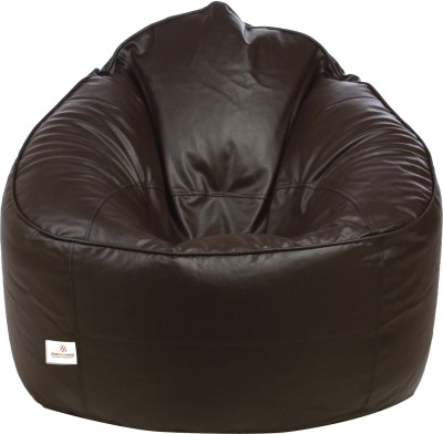 Star XXXL Muddha Sofa Bean Bag Sofa  With Bean Filling(Brown)