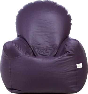 Star XXL Emperor Arm Chair Bean Bag Chair  With Bean Filling(Purple)
