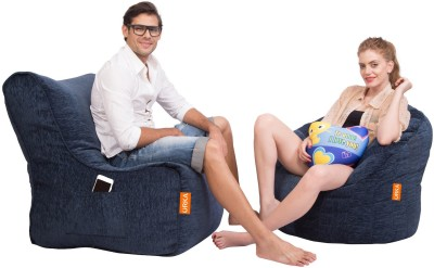 ORKA XXXL Bean Bag Sofa  With Bean Filling(Blue) at flipkart