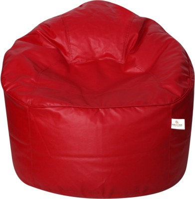 Star XXXL Bean Bag Sofa  With Bean Filling(Red)