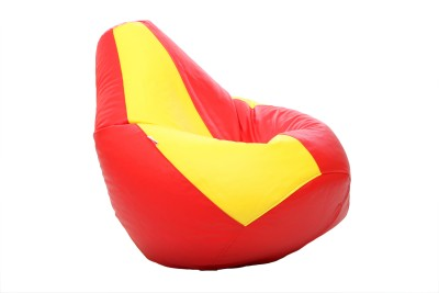Comfy Bean Bags XXXL Bean Bag Cover  (Without Beans)(Red, Yellow)