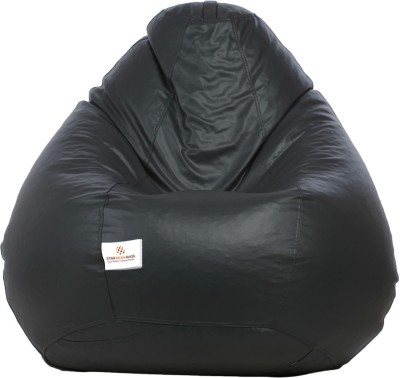 Star XL Bean Bag  With Bean Filling(Grey)