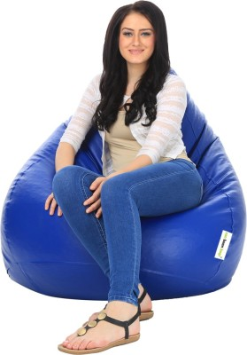 Can bean bags XL Bean Bag Cover  (Without Beans)(Blue)