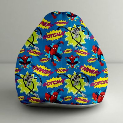 ORKA XXXL Fighting Spiderman Digital Printed Bean Bag  With Bean Filling(Multicolor) at flipkart