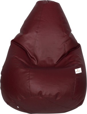 Star XXL Bean Bag  With Bean Filling(Maroon)