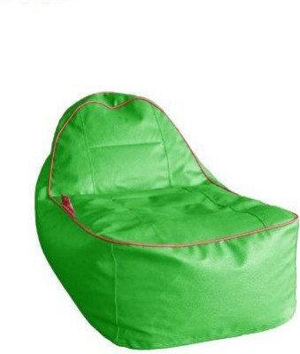Star XL Lounger Bean Bag  With Bean Filling(Green)