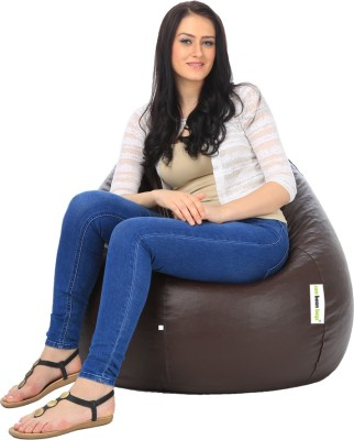 Can bean bags XL Bean Bag Cover  (Without Beans)(Brown)