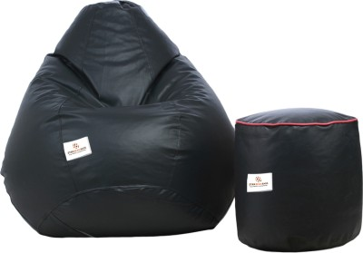 Star XXL Bean Bag  With Bean Filling(Grey)