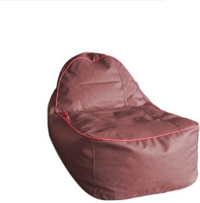 Star XL Lounger Bean Bag  With Bean Filling(Maroon)