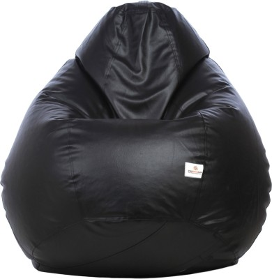 Star XXL Teardrop Bean Bag Teardrop Bean Bag  With Bean Filling(Black)