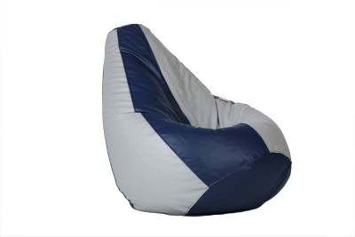 Comfy Bean Bags XXXL Bean Bag Cover  (Without Beans)(Blue, Grey)