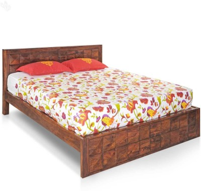Royal Oak Saphire Solid Wood King Bed(Finish Color -  Honey Brown)