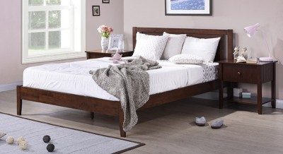 Urban Ladder Brandenberg Solid Wood King Bed(Finish Color -  Dark Walnut)