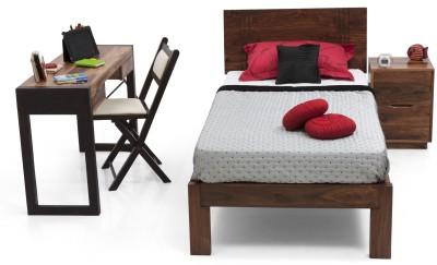 Urban Ladder Yorktown Solid Wood Single Bed(Finish Color -  Teak)