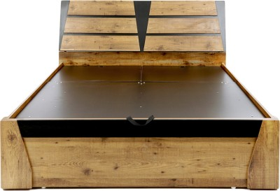 Evok Texas Engineered Wood King Bed With Storage(Finish Color -  Brown) at flipkart