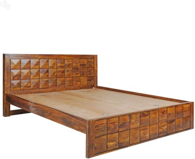Royal Oak Sapphire Solid Wood King Bed(Finish Color -  Honey Brown Finish)