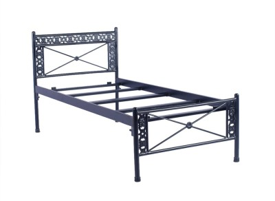 Irony Furniture Metal Single Bed(Finish Color -  Black)