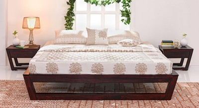 Urban Ladder Caprica Solid Wood Queen Bed(Finish Color -  Mahogany)
