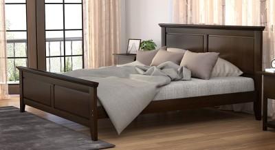 Urban Ladder Somerset Solid Wood Queen Bed(Finish Color -  Dark Walnut)
