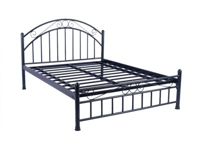 Irony Furniture Metal King Bed(Finish Color -  Black)