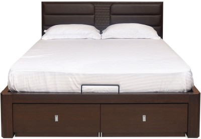 @home by Nilkamal Triumph Engineered Wood Queen Bed With Storage(Finish Color -  Dark Walnut) at flipkart