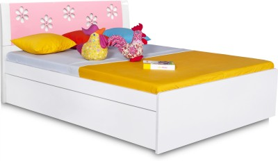 Alex Daisy Zest Engineered Wood Queen Bed With Storage(Finish Color -  Pink & White)