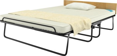 Camabeds Easy Premium Folding Metal Queen Bed(Finish Color -  Black  (Mattress Included))