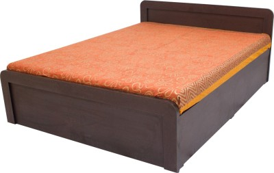 Wood Pecker Engineered Wood Queen Bed With Storage(Finish Color -  Wange)