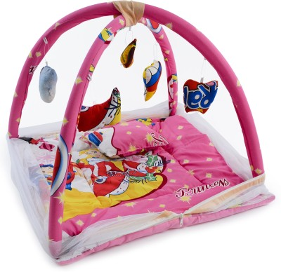Chhote Janab BABY POLYCOTTON PLAY GYM WITH MOSQUITO NET(Pink)