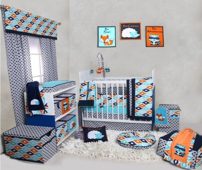 Bacati Cotton Bedding Set(Orange) at flipkart