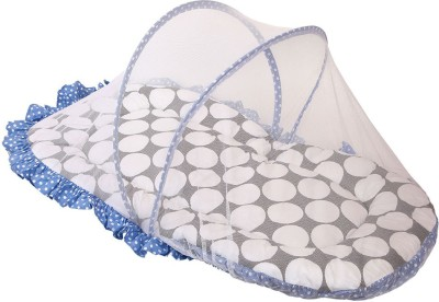 Bacati Velcro Cotton Bedding Set(Blue, Grey)