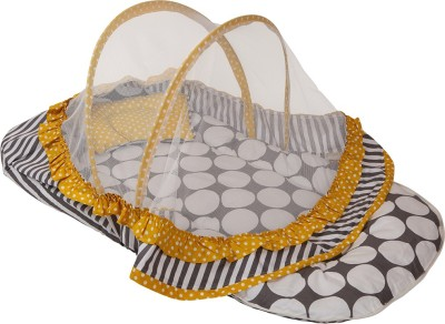 Bacati Velcro Cotton Bedding Set(Grey, Yellow) at flipkart