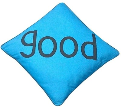 Hugs N Rugs Embroidered Cushions Cover(40 cm*40 cm, Blue)