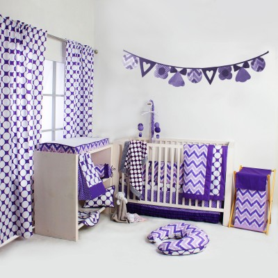 Bacati Cotton Bedding Set(Purple) at flipkart
