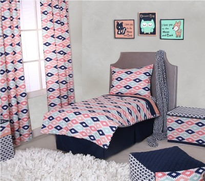Bacati Cotton Bedding Set(Multicolor) at flipkart