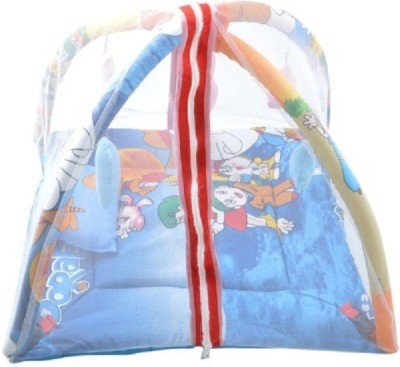 Veena Fabs Cotton Infants CARTOON PRINT PLAY GYM Mosquito Net(Multicolor)
